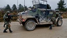 Македонские военные во время совместных учений с войсками НАТО в Германии. Архивное фото