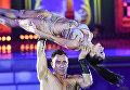 Крейг Смит и Андреа Харвей (ЮАР) выступают на шоу Звездный Дуэт - Легенды Танца! в Кремлевском Дворце в Москве