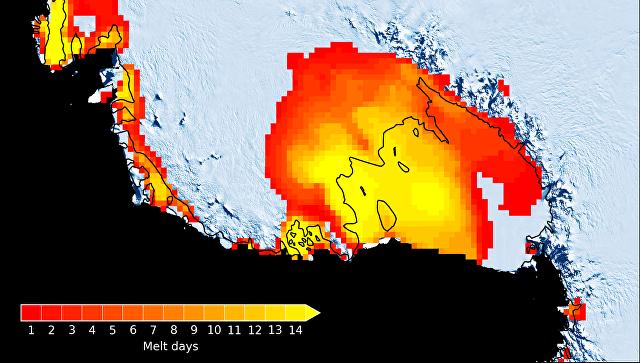 Из-за Эль-Ниньо вАнтарктиде появляются самые большие озера— Ученые