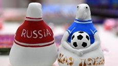 Сувенирная продукция Кубка конфедераций-2017. Архивное фото