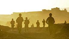Американские военнослужащие возле города Калат, Афганистан. Архивное фото