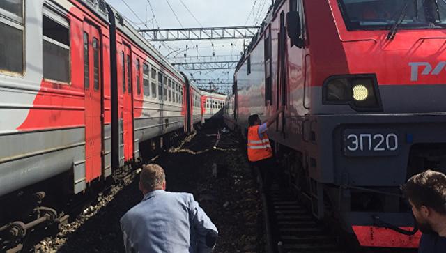 Поезд Стриж, ехавший из Нижнего Новгорода в Москву, задел электричку Нахабино — Щербинка