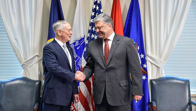 Встреча Петра Порошенко и Джеймса Мэттиса в Вашингтоне