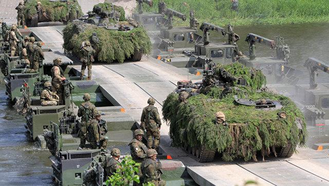 Международные маневры НАТО Железный волк 2017 в Литве