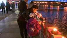 Москвичи зажгли 1418 свечей накануне Дня памяти и скорби