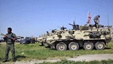 Военные США занимают позиции в деревне Дарбасия, Сирия