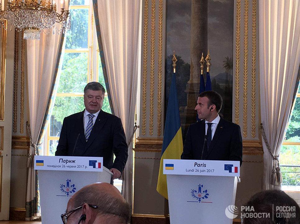 Кремль несогласен сзаявлением Макрона об«агрессии» Российской Федерации вУкраинском государстве