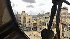 Вид на Старый город - исторический центр Алеппо с Часовой башни. Архивное фото