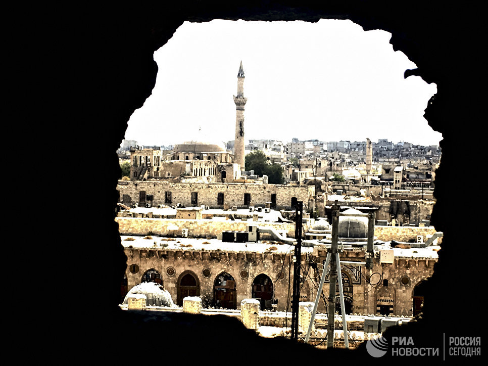 Историческая часть города Алеппо. Сирия, 03.09.2016