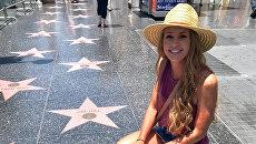 Американка Макенна Гринвальд, которая отмыла звезду президента Дональда Трампа на Аллее славы в Голливуде
