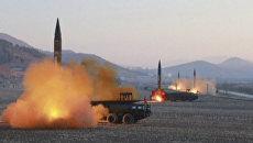 Запуск четырех баллистических ракет с территории Северной Кореи. Архивное фото
