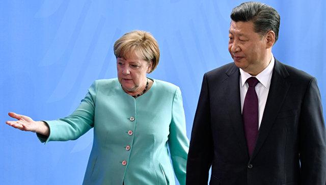 Канцлер Германии Ангела Меркель и председатель КНР Си Цзиньпин. Архивное фото
