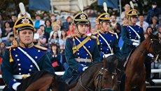 Выступление Кавалерийского почетного эскорта Президентского полка
