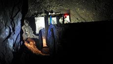 Погрузочно-доставочная машина в шахте рудника Таймырский ОАО ГМК Норильский никель. Архивное фото