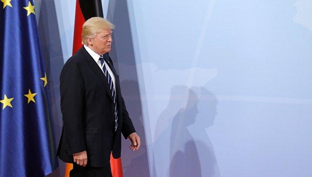 Президент США Дональд Трамп на саммите G20 в Гамбурге. 7 июля 2017