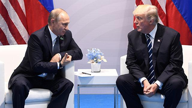 Путин иТрамп нестали отвечать навопросы корреспондентов