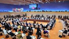 Заседании глав делегаций государств-участников Группы двадцати G20, приглашенных государств и международных организаций в Гамбурге. 7 июля 2017