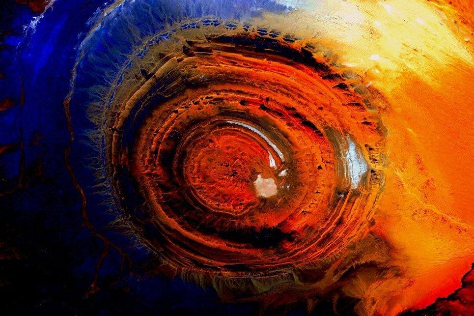 Вид Земли снятый с Международной космической станции