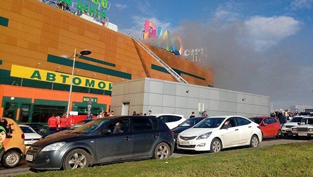 Пожар вмосковском коммерческом  центре: пострадали 12 человек