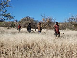 Охотники в Африке. Архивное фото