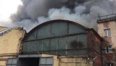 Ликвидация пожара на территории Кировского завода в Санкт-Петербурге