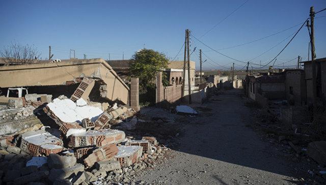 Разрушенные дома в сирийской провинции Эль-Хасака. Архивное фото