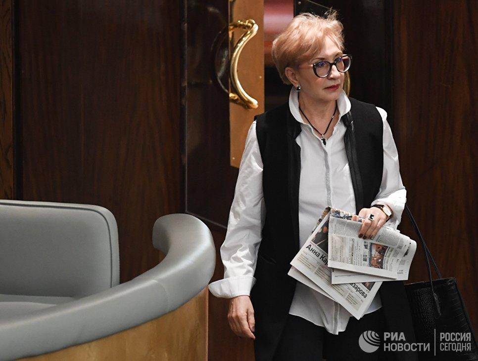 Член комитета Государственной Думы РФ по энергетике Наталья Назарова на пленарном заседании Государственной Думы РФ
