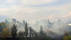 Лесные пожары в Черногории. Архивное фото