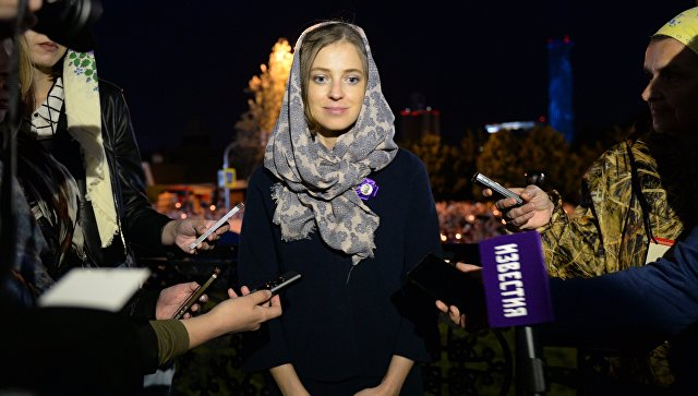 Наталья Поклонская во время крестного хода в Екатеринбурге. 17 июля 2017
