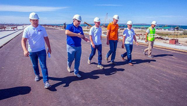 Министр транспорта России Максим Соколов в рамках рабочей поездки в Крым. 17 июля 2017