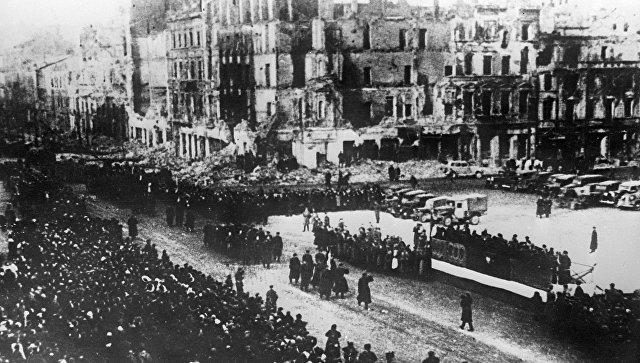 Освобождение Польши. Великая Отечественная война 1941-1945 годов. Архивное фото
