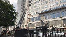 Пожар на улице Новый Арбат в Москве. 18 июля 2017