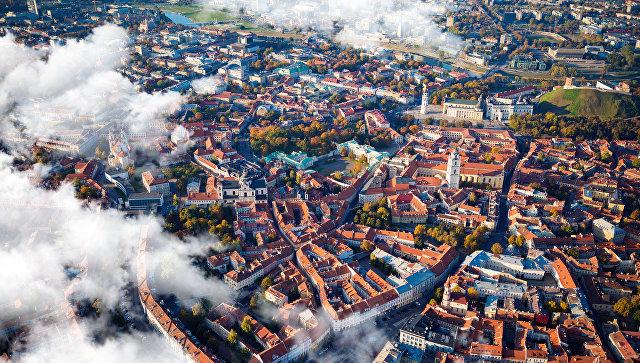 Вид на город Вильнюс, Литва. Архивное фото