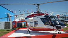 Вертолет Ка-226Т, представленный на Международном авиационно-космическом салоне МАКС-201 в подмосковном Жуковском. 19 июля 2017