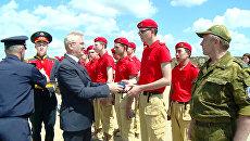 Участники смены оборонно-спортивного лагеря Гвардеец вступили в Юнармию