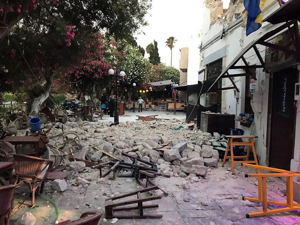 Последствия землетрясения на острове Кос, Греция. 21 июля 2017