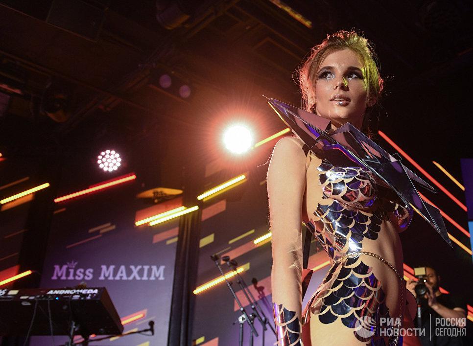 Участница финального ежегодного всероссийского конкурса Miss Maxim 2017 Анна Федотова (Екатеринбург)