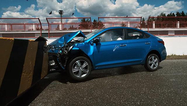 Краш тест автомобиля Hyundai Solaris 2017