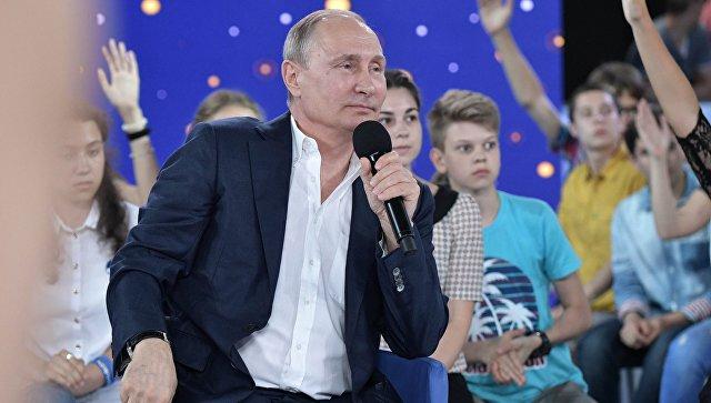 Путин пообещал подумать над льготами для молодых ученых-школьников