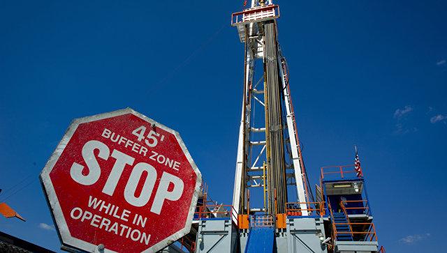 Буровая установка в месторождении сланцевого газа в штате Пенсильвания