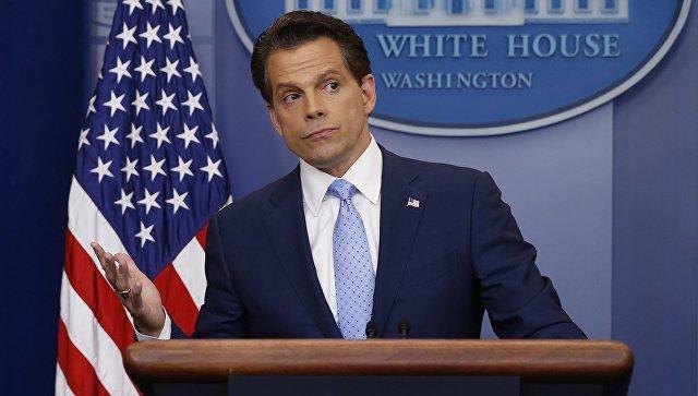 Директор по коммуникациям Белого дома Энтони Скарамуччи на брифинге в Белом доме. Архивное фото