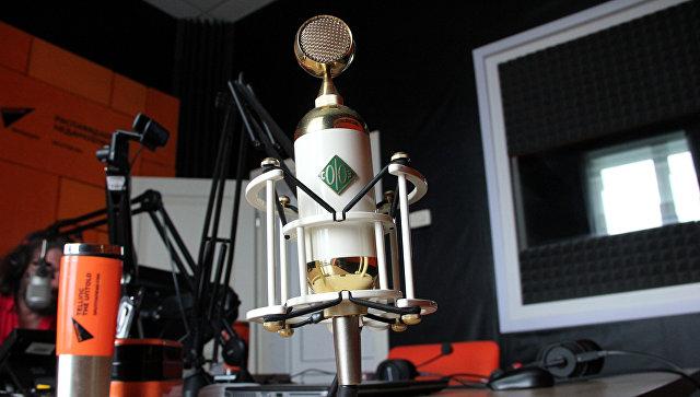 Микрофон Soyuz в студии радио Sputnik