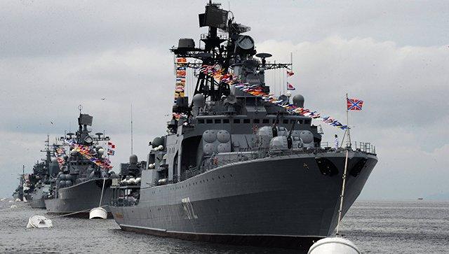 Отряд кораблей Северного флота вошел вБаренцево море