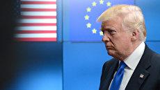Президент США Дональд Трамп в Брюсселе. Архивное фото