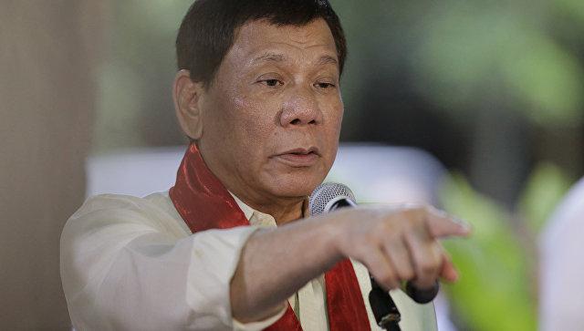 Филиппинский президент Родриго Дутерте. Архивное фото