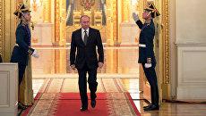 Президент России Владимир Путин в Кремле. Архивное фото