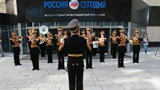 Выступление Центрального военного оркестра МО РФ в агентстве Россия сегодня