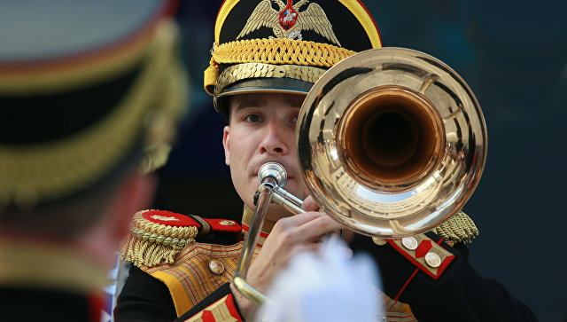 Выступление Центрального военного оркестра МО РФ. Архивное фото