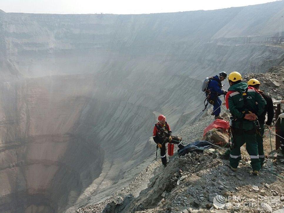 Взатопленном руднике «Мир» прекращены работы наглубине неменее 300 метров