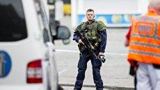 Полиция на месте происшествия в городе Турку, Финляндия. Архивное фото